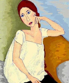 After Modigliani by Janet Oakes